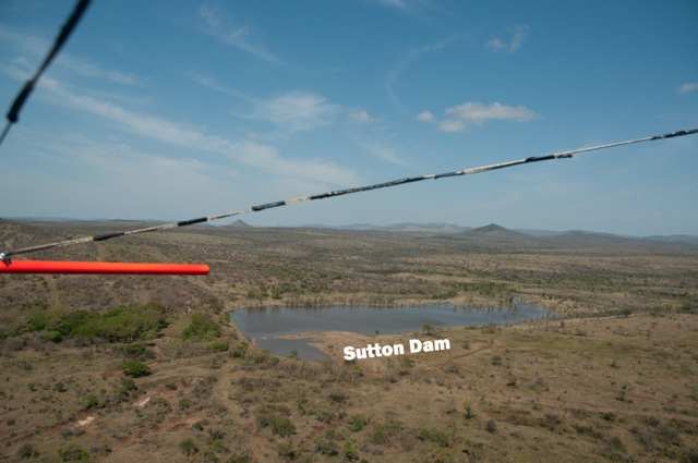 Aerial Views of full dams after 2012 Spring rain