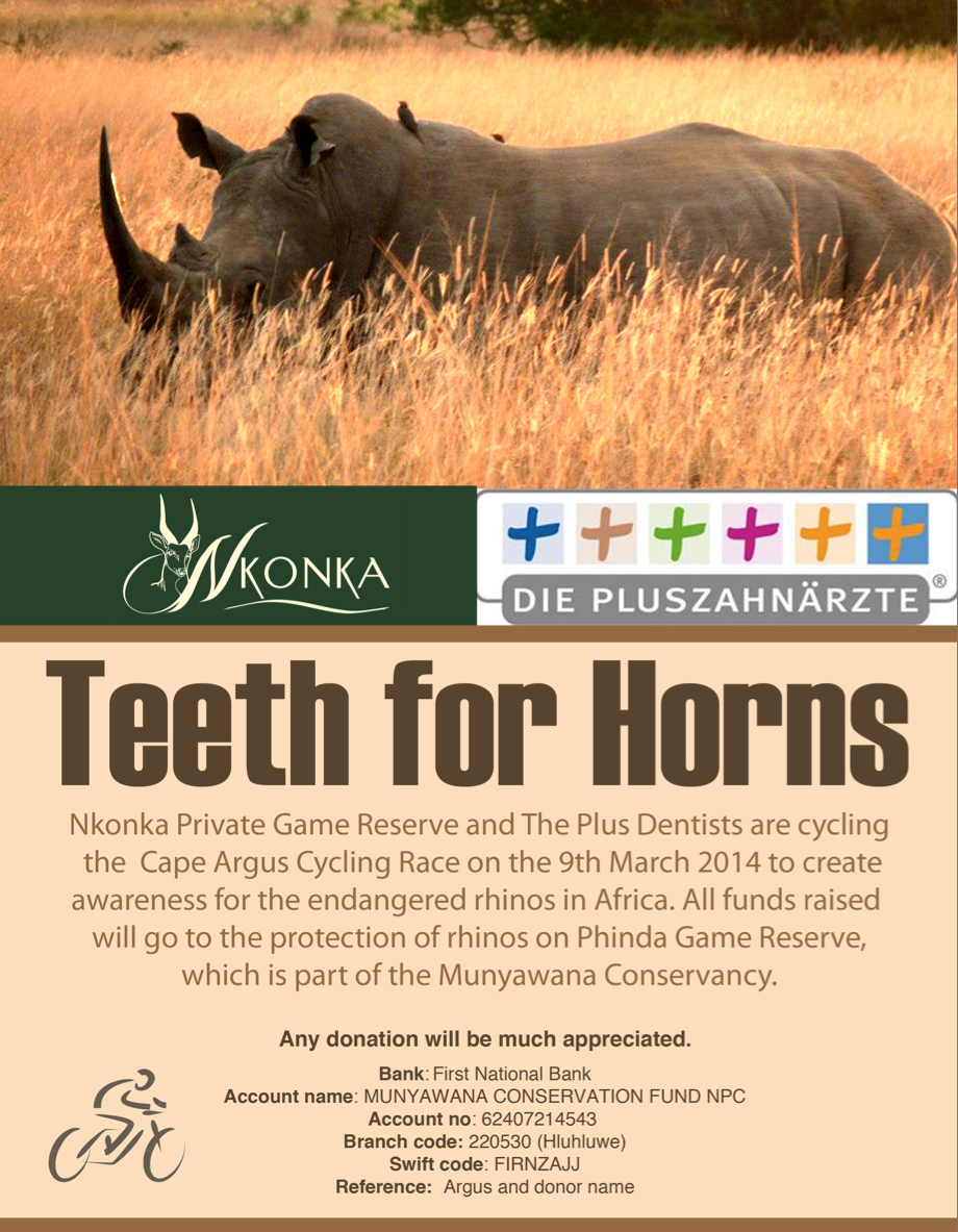 Cycling the Argus for the protection of our rhinos