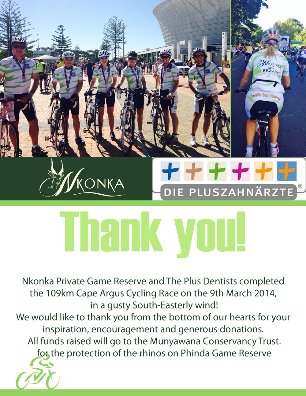 Argus Cycle Tour 2014 – Thank you!